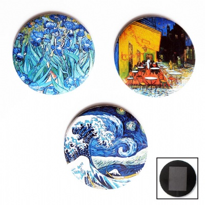 Plus de détails sur MAGNETS RONDS Van Gogh
